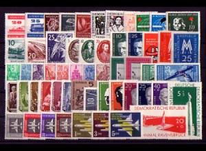 559-615 DDR-Jahrgang 1957 komplett, postfrisch ** / MNH
