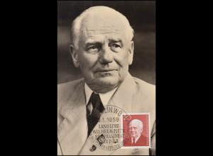 673 Wilhelm Pieck auf Maximumkarte 1959