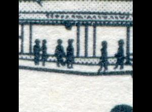 814I Leipziger Messe 25 Pf: Fleck an linker Schaufensterfassade, Feld 36 **