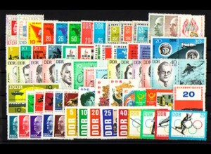 934-1003 DDR-Jahrgang 1963 komplett, postfrisch ** / MNH