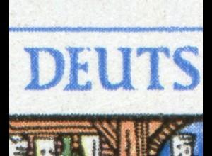 1052-1053 Leipziger Messe ZD mit PLF 1052II: gebrochenes E, Feld 34 **