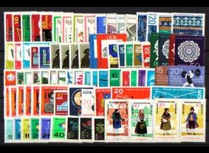 1154-1244 DDR-Jahrgang 1966 komplett, postfrisch ** / MNH