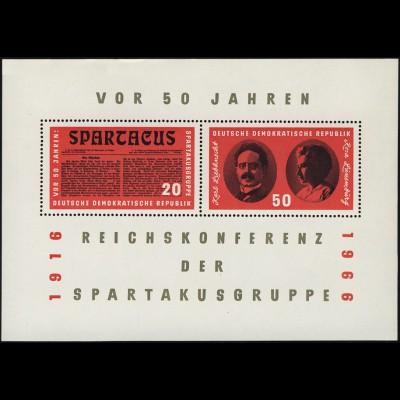 Block 25 Spartakus-Block 1966, postfrisch **