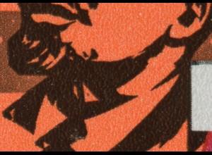 Block 26 Oktoberrevolution 1967 mit PLF schwarzer Punkt im roten Dreieck, **