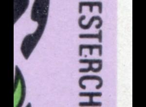 1545-1550 Märchen-Kleinbogen mit PLF 1547 schwarzer Punkt im E, Feld 3, **