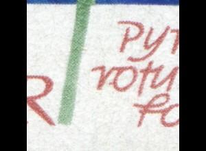 1568 Pflanzen 70 Pf mit PLF roter Strich links am o von rotundi, Feld 19 **