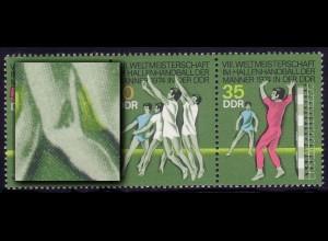 1928-1930 Hallenhandball-WM, Zusammendruck mit PLF 1929I Knieschatten, **