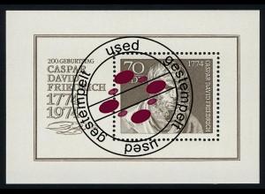 Block 40 Caspar David Friedrich 1974 mit Tagesstempel