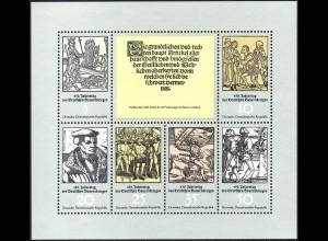 2013-2018 Bauernkrieg-Kleinbogen 1975, mit Tagesstempel