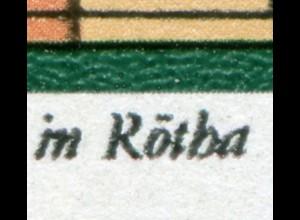 2111 Silbermann-Orgel 10 Pf. mit PLF: R in Rötha oben gebrochen, Feld 31 **