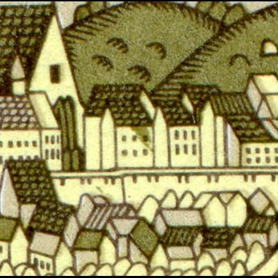 2153-2154 Gera 1976, Zusammendruck mit PLF 2153: Fleck im Haus, Feld 33 **