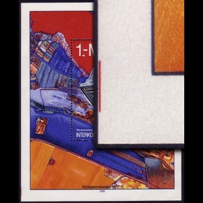 Block 52 Interkosmos 1978 mit Farbmarkierung am linken Rand unten **