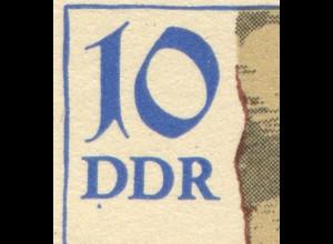 2884-2887 Siegel-Viererblock 1984 mit PLF auf 2885: blauer Fleck unter DDR, **