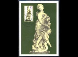 2905 Kunstwerke Elfenbein-Kleinplastik Der Frühling 10 Pf 1984, amtliche MK 2/84