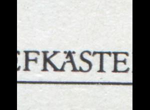 2924-2927 Briefkästen-Viererblock mit PLF 2925: gebrochenes Ä, Feld 8 **