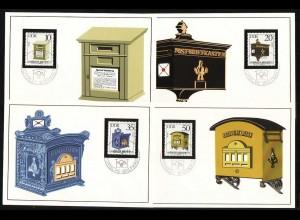 2924-2927 Briefkästen 1985, amtliche MK 1-4/85