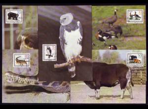 2952-2956 Tiere II 1985, amtliche MK 5-9/85