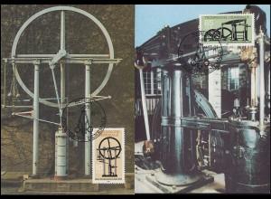 2957-2958 Technische Denkmale: Dampfmaschinen 1985, Satz Wermsdorf-MK