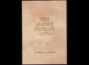 3023-3026 und Block 84 Berlin 1986, amtliches ETB 2/1986