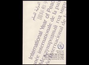 3036 Jahr des Friedens 1986, amtliches ETB 3/86
