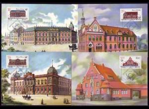 3067-3070 Postgebäude 1987, amtliche MK 1-4/1987