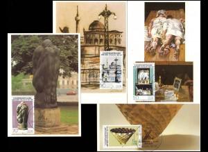 3124-3127 X. Kunstausstellung 1987, MK 1-4/87 Staatlicher Kunsthandel der DDR