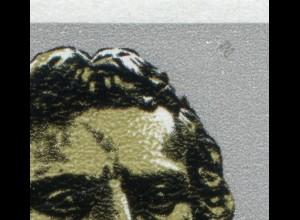 3254-3255 Schiller-Zusammendruck mit PLF im Zierfeld: grauer Rasterfleck, **