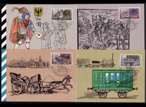 3354-3357 Postverbindung 1990, amtliche MK 5-8/1990