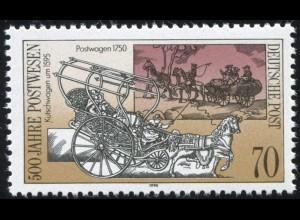 3356 Post 70 Pf mit PLF: Strich unter dem K von Kutschwagen, Feld 4 **