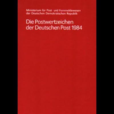 amtliches Jahrbuch DDR 1984, postfrisch ** komplett, wie verausgabt