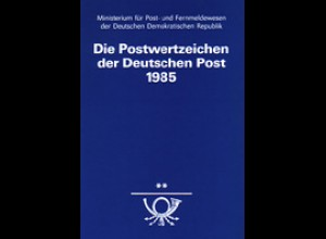 amtliches Jahrbuch DDR 1985, postfrisch ** komplett, wie verausgabt