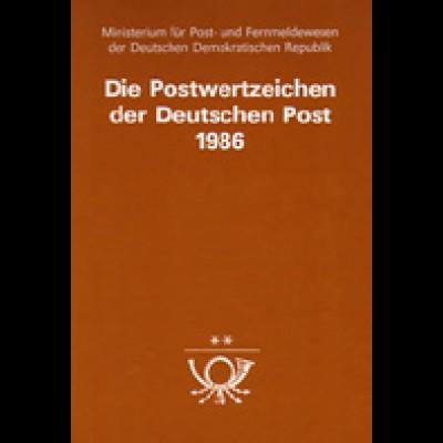 amtliches Jahrbuch DDR 1986, postfrisch ** komplett, wie verausgabt