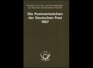 amtliches Jahrbuch DDR 1987, postfrisch ** komplett, wie verausgabt