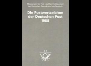 amtliches Jahrbuch DDR 1988, postfrisch ** komplett, wie verausgabt