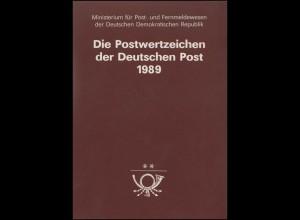 amtliches Jahrbuch DDR 1989, postfrisch ** komplett, wie verausgabt