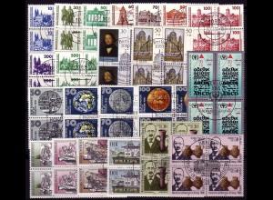 3344-3365 DDR-Jahrgang 1990 DM-Währung, Viererblöcke ESSt