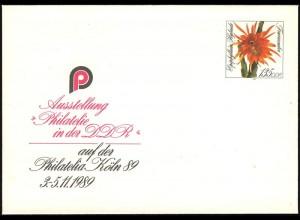 U 10 PHILATELIA/Köln & Kakteen 1989 1,35 M, postfrisch