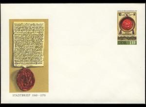 U 11 Leipziger Frühjahrsmesse und Stadtbrief 1990 1,35 M, postfrisch