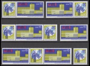 1573-1574 Rundfunk der DDR 1970, 4 Zusammendrucke und 2 Ezm, Set postfrisch