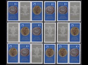 1592-1593 Deutscher Kulturbund / DKB 1970, 6 ZD+2 Ezm+ZF, Set postfrisch