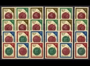 3156-3159 Historische Siegel, 16 Zusammendrucke + 4 Ezm, Set postfrisch **