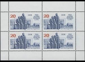 3077 Marx-Engels-Forum-Kleinbogen, postfrisch