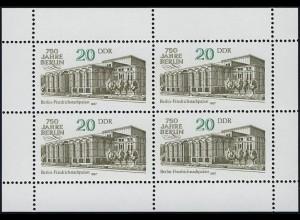 3078 Friedrichstadtpalast-Kleinbogen, postfrisch