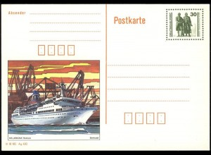P 109/2 Goethe/Schiller: MS Arkona Rostock 1990 30 Pf, postfrisch