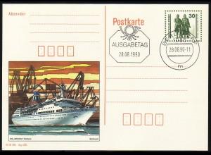 P 109/2 Goethe/Schiller: MS Arkona Rostock 1990 30 Pf, VS-O Berlin ZPF 28.8.90