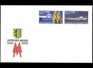 U 4 Leipziger Messe und Fabriktrawler 1986, postfrisch