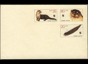 U 7 Naturschutz WWF Fischotter 1987, postfrisch