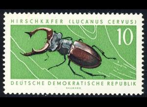 978 Geschützte Tiere Hirschkäfer 10 Pf **