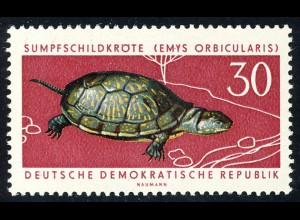 980 Geschützte Tiere Sumpfschildkröte 30 Pf **