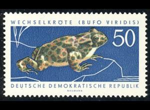 981 Geschützte Tiere Wechselkröte 50 Pf **